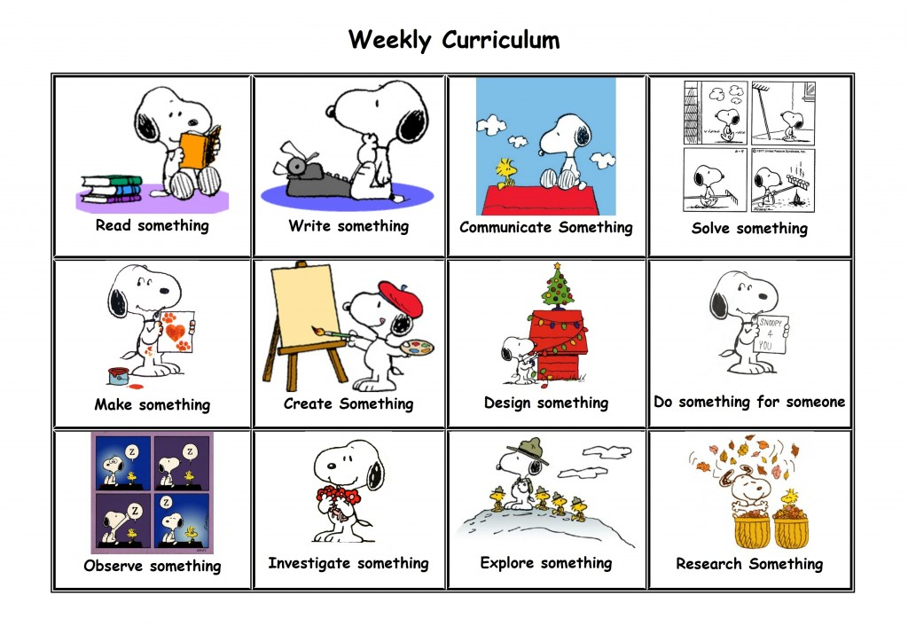 Unschool weekly curriculum jp